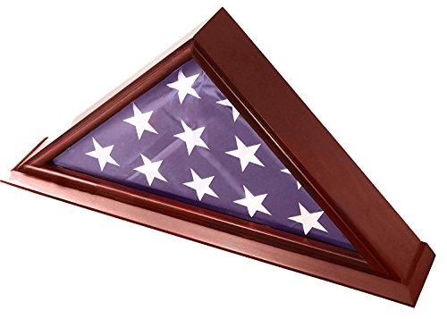 DECOMIL - 12,7 x 22,9 cm große Vitrine für Beerdigung/Beerdigung/Veteranen-Flagge mit Kirsch-Finish