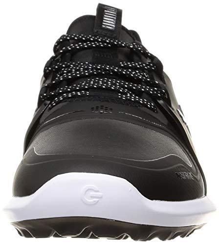 PUMA 194466, Zapatos de Golf Hombre, Negro Plata Negro, 44 EU