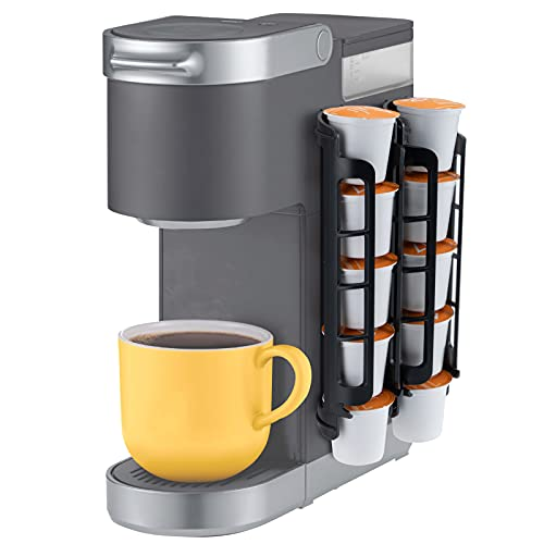 k cup storage solutions STORAGENIE Coffee Pod Holder for Keurig K-cup, Side Mount K Cup Storage, Perfect for Small Counters (2 Pack/For 10 K Cups, Black)