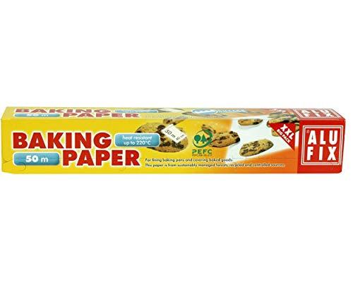 ALUFIX Backpapier, weiß, 40cm breit, mit Sägekante, 50m