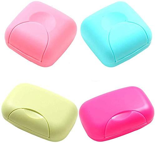 4 Unids Portátil Caja de Contenedor de Jabón de Color Caramelo Organizador Holder Organizador para el Hogar, Baño, Senderismo, Viajar, Acampar y Otras Actividades al Aire