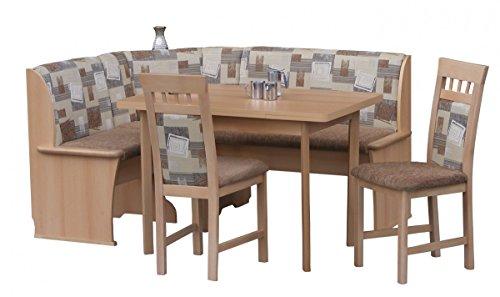 V. Jause e. K. Eckbankgruppe Eckbank Esszimmer Essgruppe Stühle Tisch Auszug Buche teilmassiv