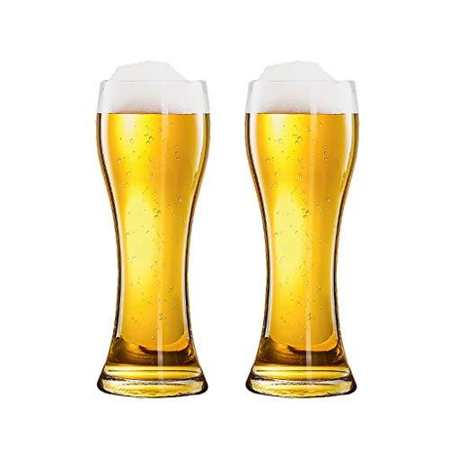 Bierkrug Bier Becher Riesige Biergläser mit Schwerer Base Pint Gläser für Zuhause Dinning Bars Partys 3000ml / 101oz (Color : Clear×2)