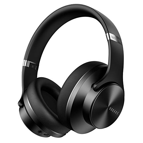 Bluetooth Headphones Over Ear, DOQAUS 52 Hrs Wireless Headphones with 3 EQ Modes, Hi-Fi Stereo & Foldable Deep Bass Headphones, Comfortable Earpads & Wired Mode for Cellphone/Tablets/PC/Meeting