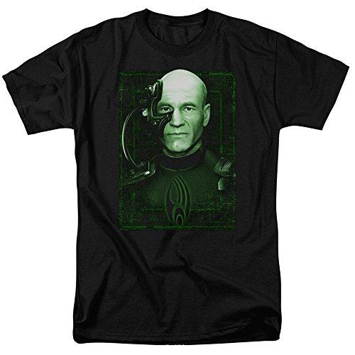 Star Trek Locutus Of Borg Mens Short Sleeve Shirt (Black, Medium)