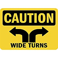 Caution Wide Turns 注意看板メタル安全標識注意マー表示パネル金属板のブリキ看板情報サイントイレ公共場所駐車ペット誕生日新年クリスマスパーティーギフト