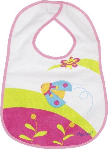 Playshoes Bavaglino per Neonato Impermeabile Con Chiusura In Velcro, Coccinelle Ricamato