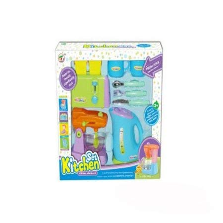 Kitchen Appliances Toy for Kids - Mixer, Toaster, Kettle, Cups & Utensils Set PS414