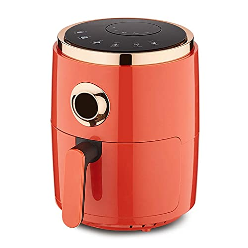 Wyxy Freidora de Aire Sin Aceite 4.5L Aire doméstico Máquina de Papas Fritas eléctrica automática multifunción de Gran Capacidad (Color: Naranja, Tamaño: 28 * 36.5cm)