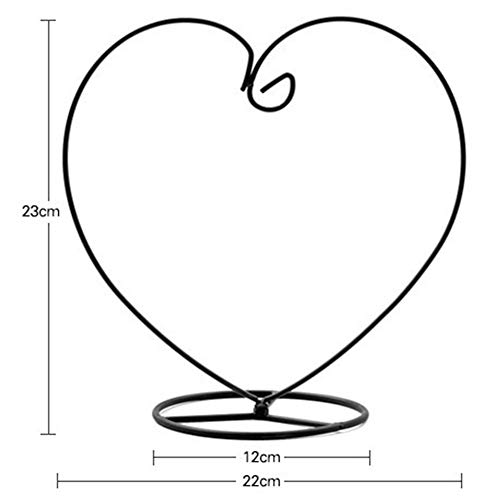 Amyove gebruiksvoorwerpen, houder in de vorm van een glazen vaas van de ijzeren standaard in hartvorm, modieus geschenk voor decoratie van het Duitse Duitse binnenlands