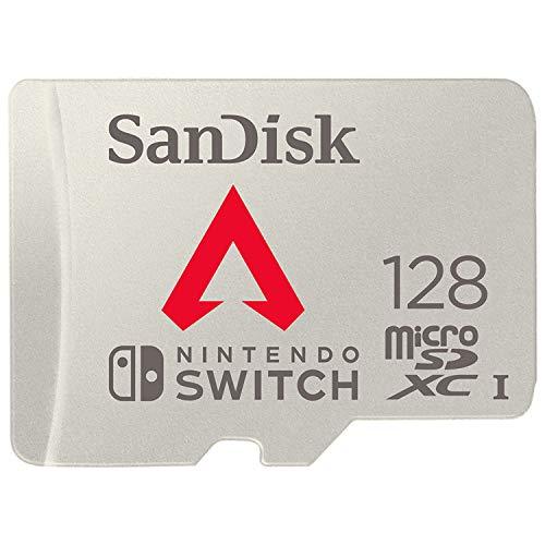 SanDisk Apex Legends, Scheda microSDXC per Nintendo Switch 128 GB, con Licenza Nintendo, Grigio