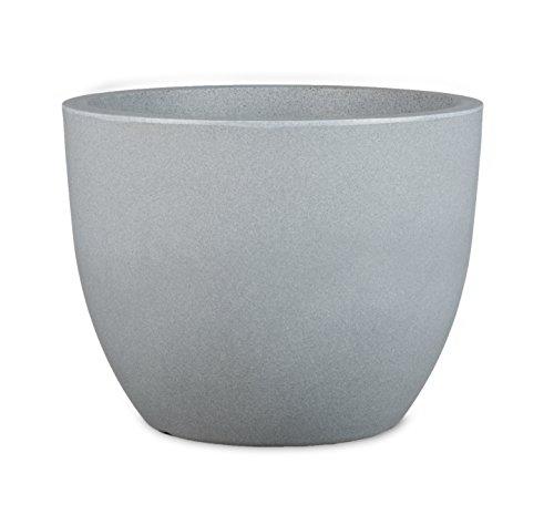 Scheurich Firenze, Kunststoff, Stony Grey, 50 cm Durchmesser, 39 cm hoch, 49 l Vol. Pflanzgefäß