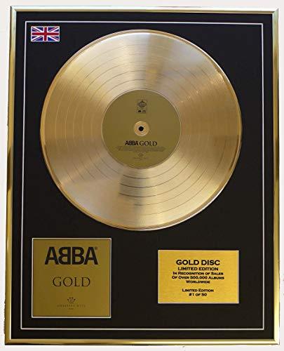 Abba Goldene Schallplatte Record Limitierte Edition Gold