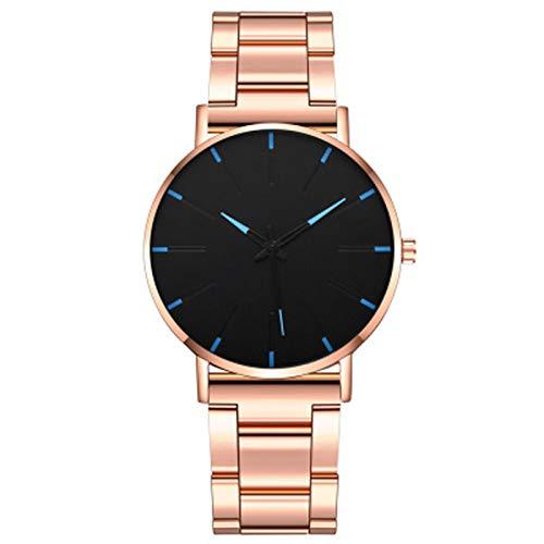 ZTT Minimalist Herrenmode Ultra Thin Uhren Einfache Mann-Edelstahlgewebe Gürtel Quarzuhr,E