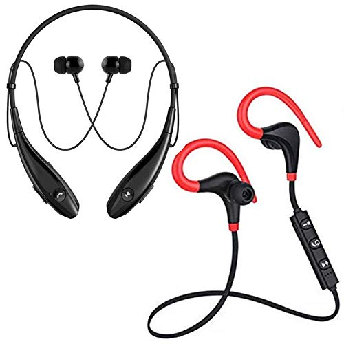 G S GOLDSTEIN STAR QC10 Jogger Headset Bluetooth Headphones. with Wireless Neckband with 6-7 Hour Battery Life, IPX5 Sweatproof Headphones with mic for Running, Gym, Office, Travelling, Etc.