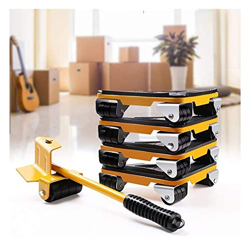 Fácil de usar Levantador de muebles Easy Mover Slides Mover Herramienta Set Pesado dispositivo Mover Transport Set Levantador (Color : Yellow, Size : 34.5cm)