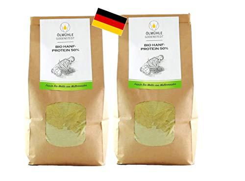 Bio Hanfprotein 50% 2er Sparpack , direkt von der Ölmühle Godenstedt 2000g (2x1000g)