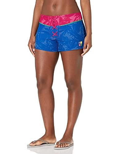 Roxy Damen Pop Surf Boardshorts, Prinzessin Blaue Texturblume, Medium