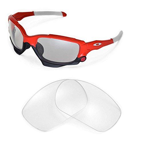 Walleva Ersatzgläser für Oakley Racing Jacket Sonnenbrille - Mehrfache Optionen (Klar)