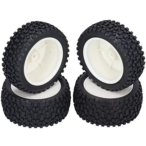Eosnow Neumáticos de Goma RC, Neumáticos RC Amortiguación Fuerte y Alta Resistencia al Desgaste para Coche RC 1/10 para Piezas de Coche con Control Remoto