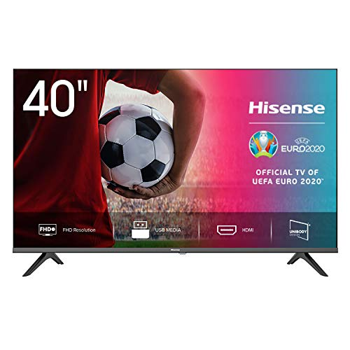 Hisense FHD TV 2020 40AE5000F - Feature TV Resolución Full HD, Natural Color Enhancer, Dolby Audio, HDMI, USB, Salida auriculares