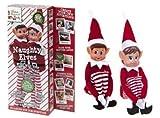 Elves Behavin' Badly Juego de 2-12'Novedad Travieso Niña y Niño Elfos Juguete - Elfos Que se comportan Mal
