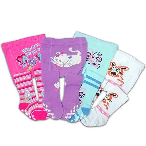 ciscoo 4 stuks - Abs baby kinderen panty met schattige diermotieven - 80% katoen aandeel