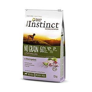 True Instinct No Grain - Pienso sin Cereales para Perro Adult Medium-Maxi con Pavo - 12kg
