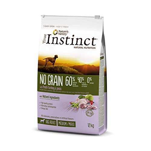 True Instinct No Grain - Pienso sin Cereales para Perro Adult Medium-Maxi con Pavo - 12kg