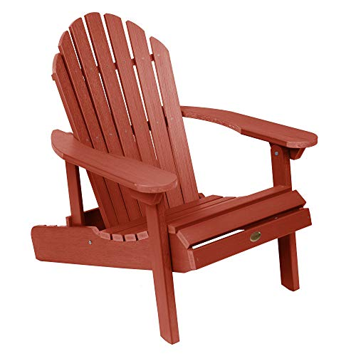 Highwood AD-CHL1-RED Hamilton Made in the USA Adirondack Chair, Adult Size, Rustic Red, Model Number: AD-CHL1-RED