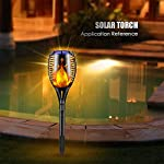 Ambaret Solar Lights Upgraded, Outdoor Waterproof Flickering Flames Torches Lights Solar Spotlights Landscape Decoration…