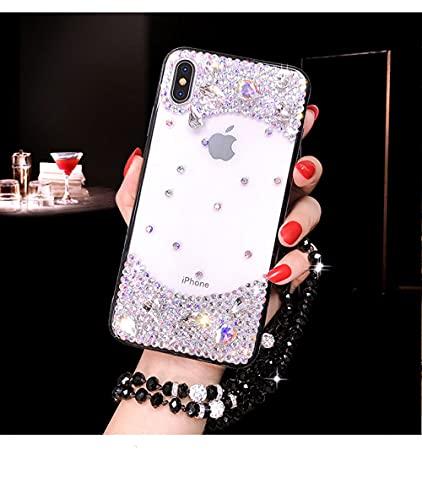 para Samsung S7 Edge S8 S9 S10 Plus Lite N5 N8 N9 Estuche de Lujo Diamante de imitación Cristal Suave Transparente TPU Cubierta del teléfono, 2, para Galaxy S8Plus