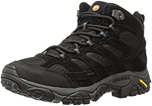 Merrell Men's Moab 2 Vent Mid Hiking Boot, Black Night, 9 M US