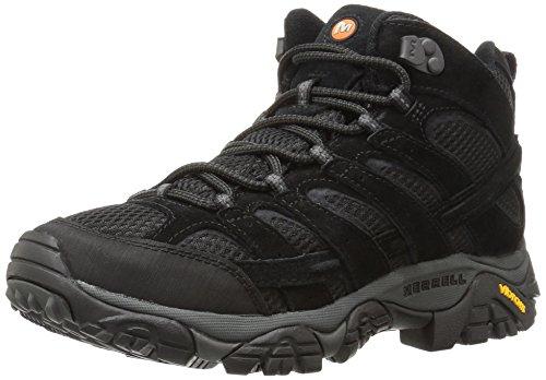Merrell Men's Moab 2 Vent Mid Hiking Boot, Black Night, 7.5 M US