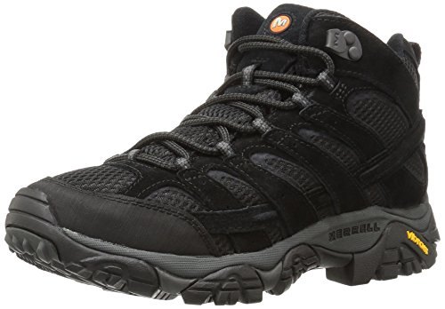 Merrell Men's Moab 2 Vent Mid Hiking Boot, Black Night, 11 2E US