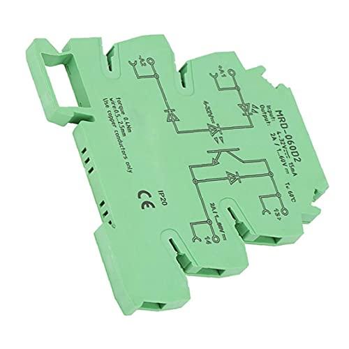 Relé de estado sólido 2A ultra-delgado de entrada 4-32V DC con la entrada LED Estado Indicador de MRD-060D2 carril DIN Módulo de relé Relay