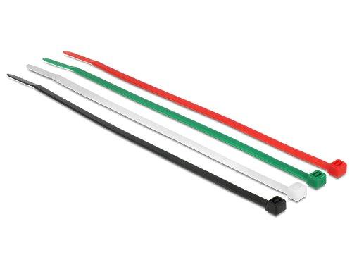 Delock 18622 200 mm, 50 stuks. [20x, 10x kabelbinders 200mm 50 stuks versie -A gekleurd, zwart, groen, rood, wit