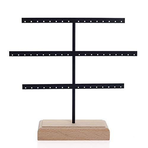Organizador de pendientes de Jewe-lry con soporte para pendientes de 3 niveles para colgar pendientes, pendientes, aretes, árbol de exhibición de aretes, caja de regalo