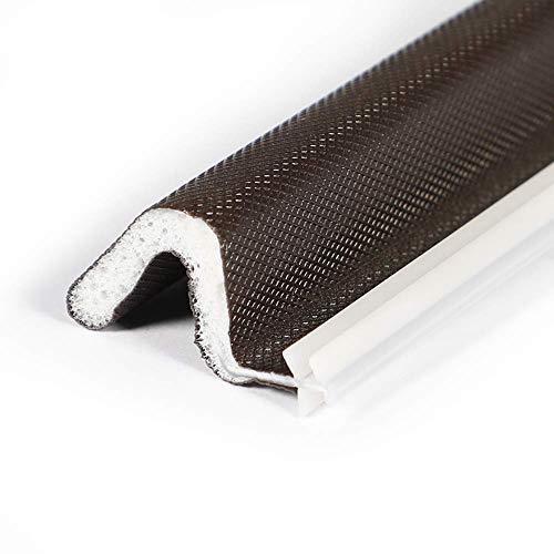 "Kerf Door Seal Brown, 9/16"" W X 84"" L X 5 Pcs, V Shaped PU Foam Weather Stripping Door Seal Strip, Total 35 Feet"