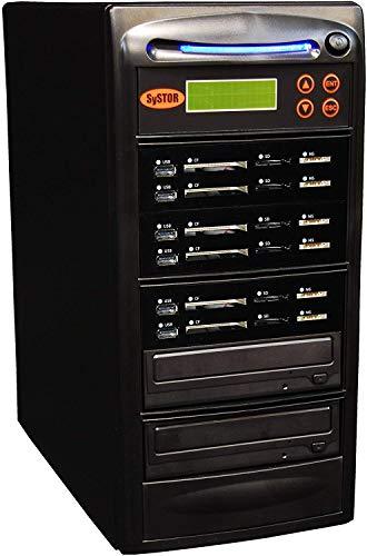 Systor 1:5 unità flash combinate tutto in uno e duplicatore Blu-ray BDXL - Esegui il backup di schede flash USB/SD/CF/MS su un singolo disco CD/DVD/BD - SYS05-BD-USBSDCF