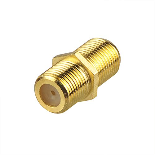 VCE Gold Plated F-Type Coaxial RG6 Connector,Cable Extension Adapter Connects Two Coaxial Video Cables Support Comcast