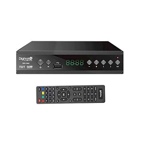 Digivolt TDT HD DVBT-2 SINTONIZADOR Grabador Alta Definición USB Rec TDT-7403