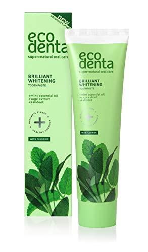 ECODENTA Teeth Whitening Zahnpasta - Toothpaste Mit Kalident, Salbeiextrakt, Ätherisches Minzöl 100 ml
