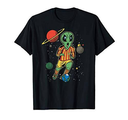 Divertido jugador de fútbol en el espacio con Alien - Fútbol Camiseta