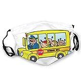 The Magic School Bus Unisex Variedad Cara Bufanda Cuello Leggings A Prueba de Viento Bufanda Turbante Pasamontañas Deportes