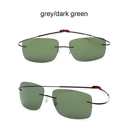 XINGYU Gafas de Sol polarizadas sin Montura Titanio Puro Lig