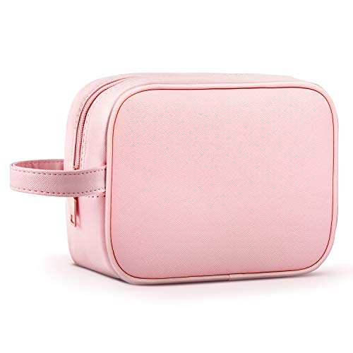 NiceEbag Makeup Bag Travel Cosmetic Bag Portable Toiletry Pouch for Women Girls, Rose Gold