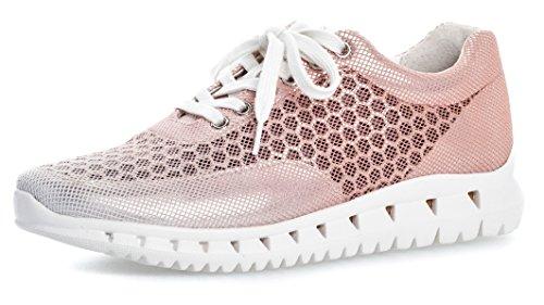 Gabor Damenschuhe 64.331.42 Damen Sneaker, Schnürer, Schnürhalbschuhe, ulta-leicht, mit verbreiterter Auftrittsfläche pink (rame Kombi/Weiss), EU 6