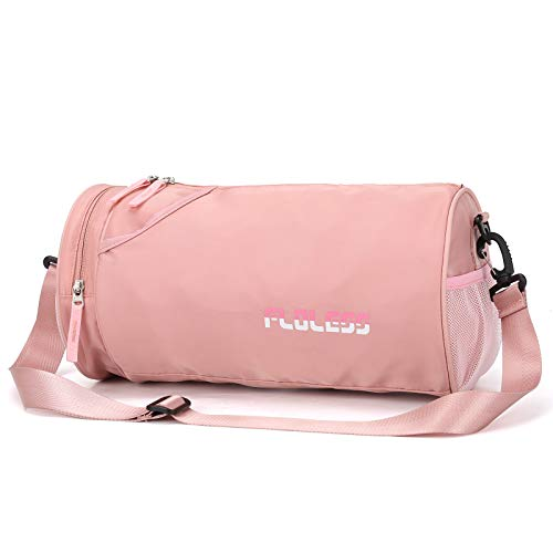 Small Sports Gym Bag for Women with Wet Pocket Waterproof Workout Bags for Gym WomenExercise Beach Yoga Dance BagPink