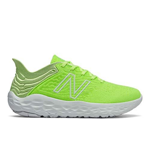 New Balance Women's Fresh Foam Beacon V3 Running Shoe, Lime Glo/Arctic Fox, 8.5 M US